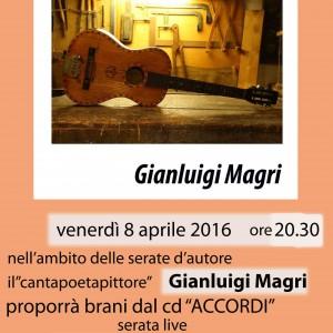 venerdì 8 aprile 2016  serata canzoni d'autore