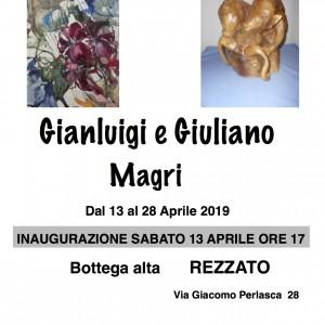 """""""EMOZIONI DIVERSE 3″  Mostra di pittura e scultura Gianluigi e Giuliano Magri"""