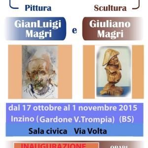 "locandina"" mostra di pittura "" Inzino  G.V.Trompia"